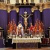 Imponente altar de La Expiración para el Quinario al titular de Los Escolapios