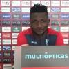 """Isaac Success cree que la clave ante el Deportivo es """"estar muy concentrados"""""""