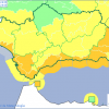 Alerta naranja por lluvias fuertes y temporal en la Costa y aviso amarillo en el resto de la provincia
